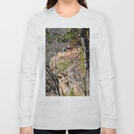 Climbing Up Sparrowhawk Mountain above the Illinois River, No. 4 of 8 Long Sleeve T-shirt