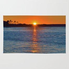 Frozen Bay Sunset Rug