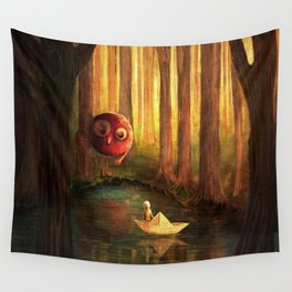 Forest Encounter Wall Tapestry