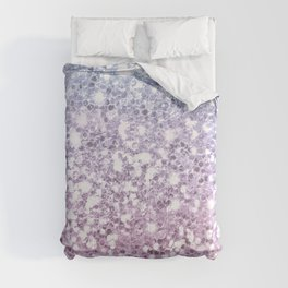 Faux Sparkly Unicorn Pink Glitter Ombre Comforters
