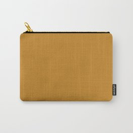 Rich Golden Mustard Yellow - Solid Plain Block Colors - Autumn / Fall / Autumnal Colours / Gold / Jewel Tones / Brown Carry-All Pouch