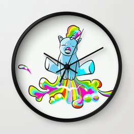 Pooping Unicorn Wall Clock
