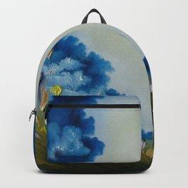 Sky Break, Skyscape, Landscape, Field of Flowers, Wild Flowers Backpack