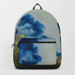 Sky Break, Skyscape, Landscape, Field of Flowers, Wild Flowers Backpack