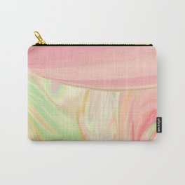 Complicated Pink to Peach to Green Carry-All Pouch