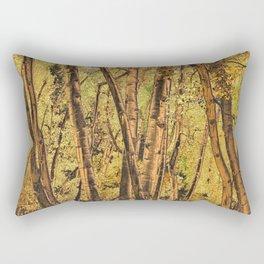 Bronzed Aspen Trunks Rectangular Pillow