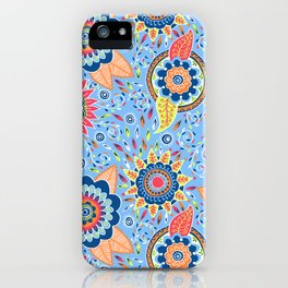 Henna Flowers iPhone Case