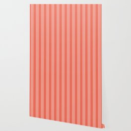 THICK STRIPES, CORAL AND PEACH Wallpaper