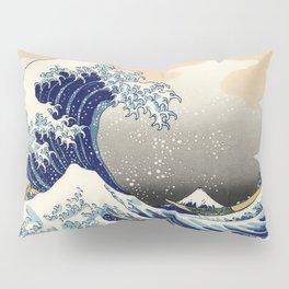 Katsushika Hokusai, The Great Wave off Kanagawa, 1831 Pillow Sham