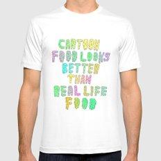 CARTOON FOOD LOOKS BETTER THAN REAL LIFE FOOD MEDIUM White Mens Fitted Tee