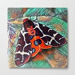 Garden Tiger | Moth - Oil Painting  Metal Print