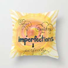 Imperfections Throw Pillow