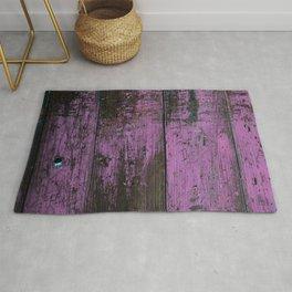 Purple Country Faux Barn Wood Rug