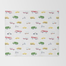 Cars and Trucks Collection Throw Blanket