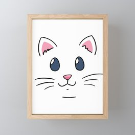 Cat face sweet cat Framed Mini Art Print
