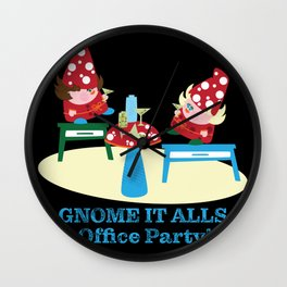 Gnome It All Office Party Wall Clock