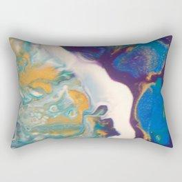 Fluid Nature - Dividing Line - Abstract Acrylic Art Rectangular Pillow