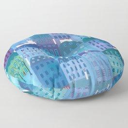Paris Blues Painting Floor Pillow