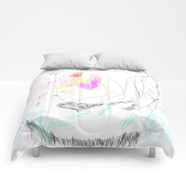 abstract whale Comforters
