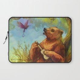 Bear and ukulele Laptop Sleeve
