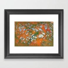 Tangled Fall Framed Art Print