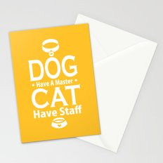 Dog Have A Master Cat Have Staff Stationery Cards