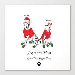Santa Paws & Mrs. Paws Canvas Print
