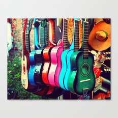 las guitarras. spanish guitars, Los Angeles photograph Canvas Print