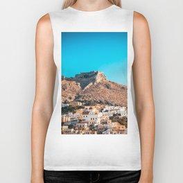The castle of Leros Biker Tank