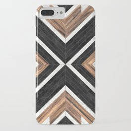 Urban Tribal Pattern No.1 - Concrete and Wood iPhone Case