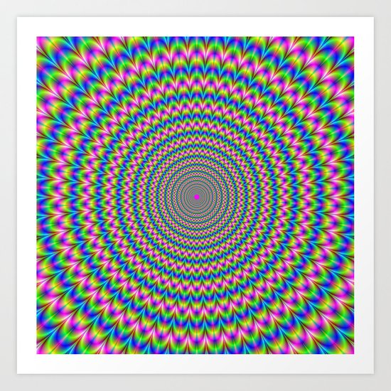 Psychedelic Rings Art Print