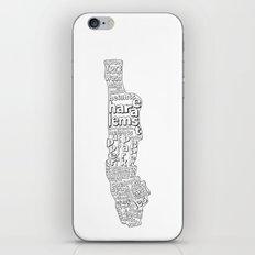 New York City Neighborhoods iPhone & iPod Skin