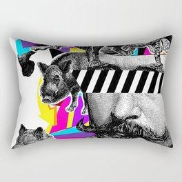 Pop Art Motifs Rectangular Pillow