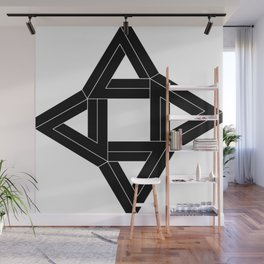 The IE collection: Daphne - Black Variant Interior Wall Mural