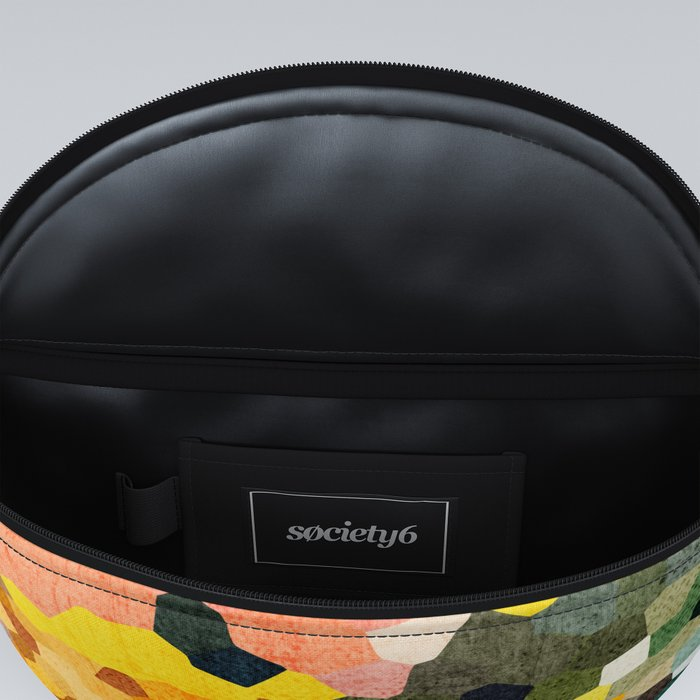 Feel Good Colors, A Warm Abstract Mosaic Fanny Pack