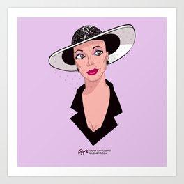 Alexis Morell Carrington Colby Dexter Rowan Art Print