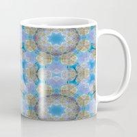 finland Mugs featuring Finland Kaleidoscope by Lu Haddad