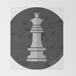 queen glance b&w Throw Blanket