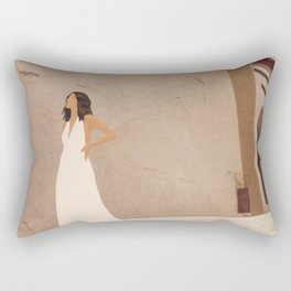 New White Dress II Rectangular Pillow