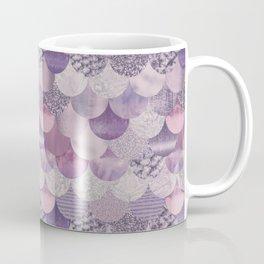 Pale Pink Pastel Glamour Fish Skin Scale Pattern Coffee Mug