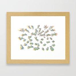 rabbit habbit Framed Art Print