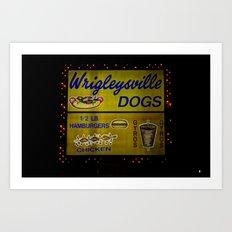 Wrigleyville Dogs Art Print