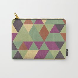 TRIANGLES geometric print Carry-All Pouch
