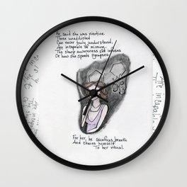 His Nicotine Wall Clock