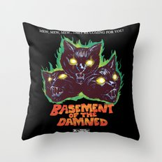 Basement Of The Damned Throw Pillow