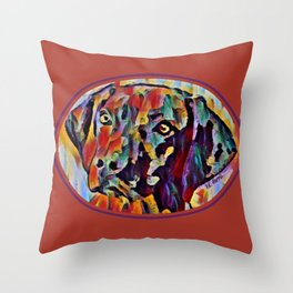 The Colorful Vizsla Throw Pillow