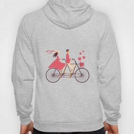 Love Couple riding on the bike Hoody