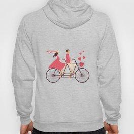 Love Couple riding on the bike Hoody
