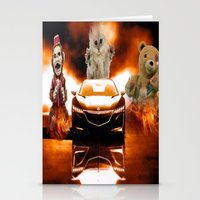 honda Stationery Cards featuring HONDA NSX,RACING CAR,NIGHTMARE by ira gora