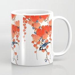 "Ohara Koson,""Bird & Red Ivy"" Coffee Mug"